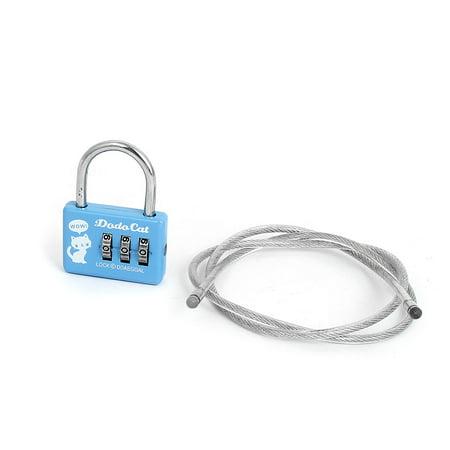 Travel Safe Lock - Samll 3 Digit Lock Combination Security Safe Travel Luggage Code Padlock 4 Pack