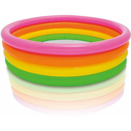 Intex Inflatable Sunset Glow Colorful Kiddie Pool](Glow Sticks In A Pool)
