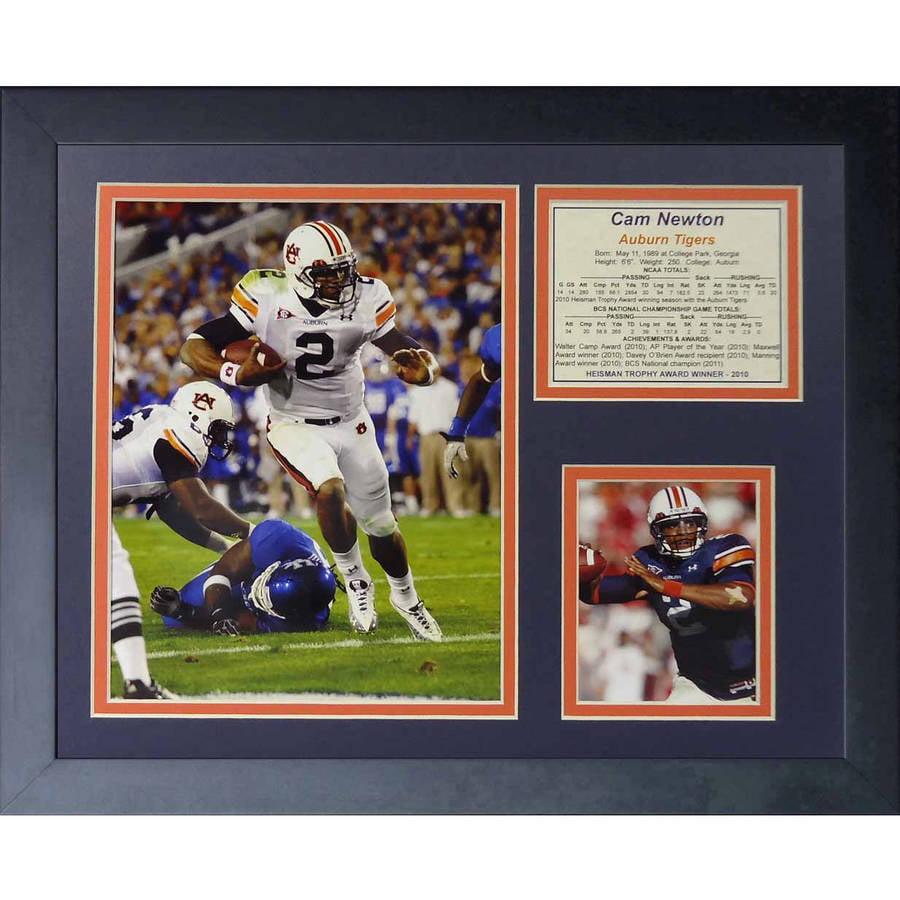 "Legends Never Die ""Cam Newton Auburn"" Framed Photo Collage, 11"" x 14"""