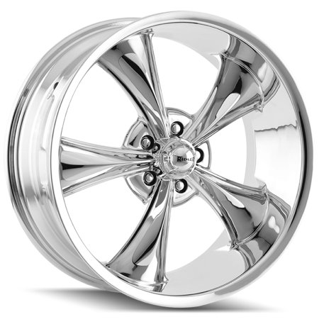 18' Black Chrome Rims - Ridler 695 18x8 5x4.75