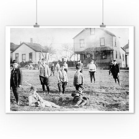 Boys' Gang in Cleveland Ohio Photograph (9x12 Art Print, Wall Decor Travel - Halloween Stores In Cleveland Ohio