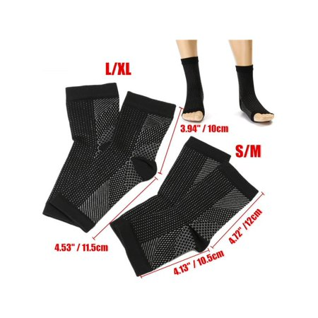 f2f8324e37 1-4 Pair(s) Foot Ankle Sleeve Anti Fatigue Compression Swelling Relief Socks  Health Women & Men Warmer - Walmart.com