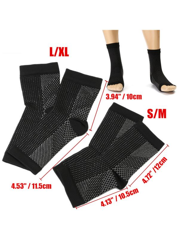 1-4 Pair(s) Foot Ankle Sleeve Anti Fatigue Compression Swelling Relief Socks Health Women & Men Warmer