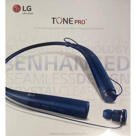 LG TONE PRO In-Ear Earbuds Headphones Bluetooth Wireless Neckband Headset with Mic, Blue (Open Box - Like
