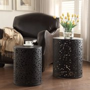 Middleton 2-Piece Set Round Accent Tables, Fully Assembled.
