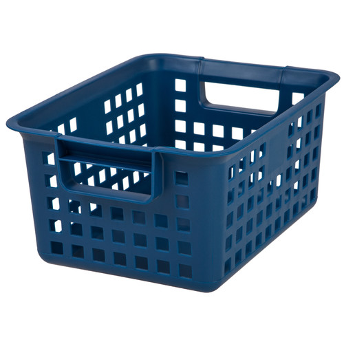 Medium Plastic Storage Basket, Pink