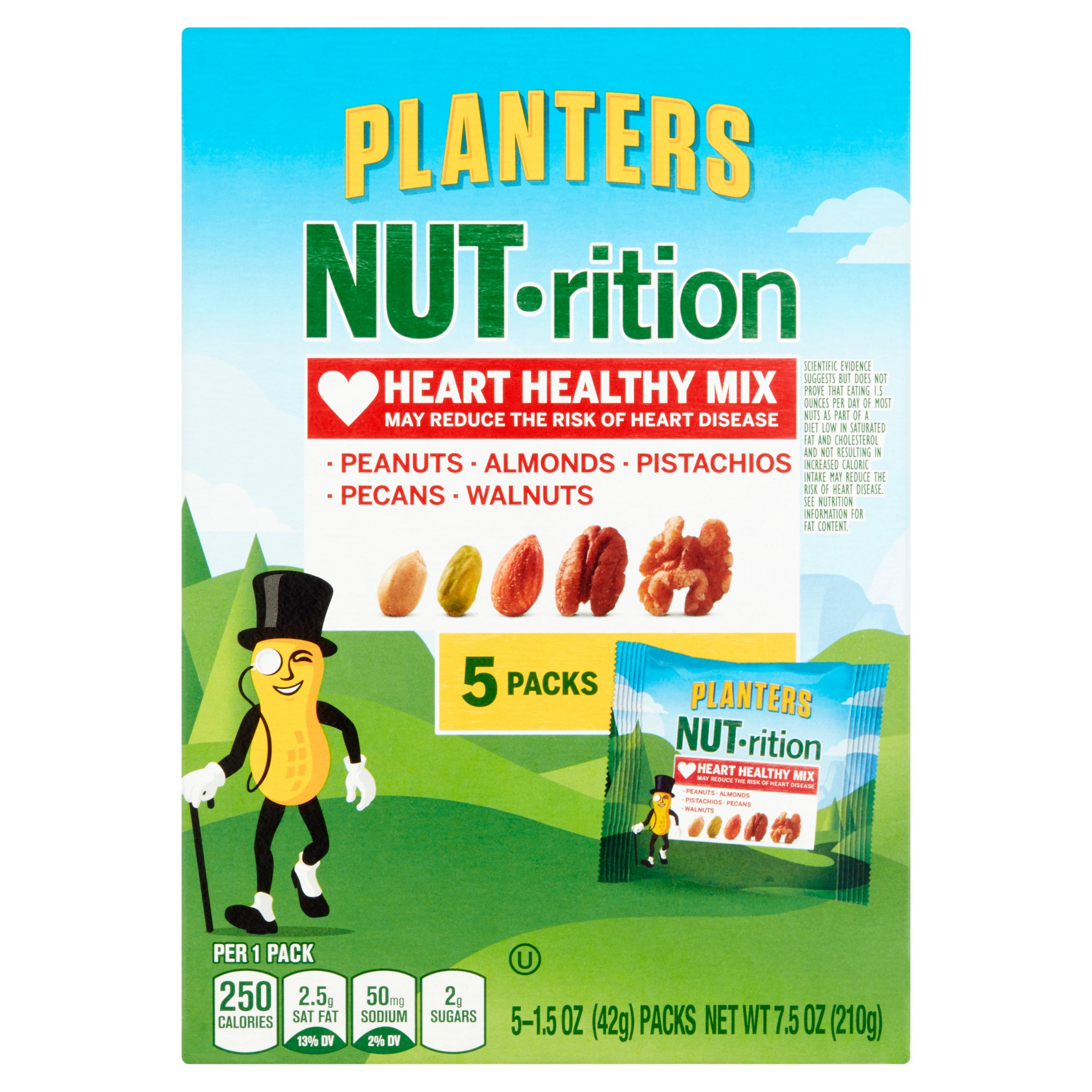 Planters NUT-rition Heart Healthy Mix, 1.5 oz, 5 count