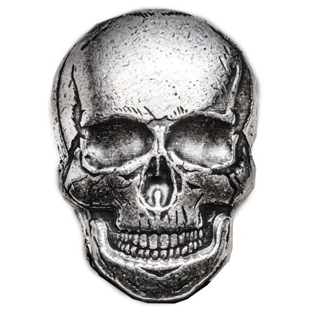 2 oz Silver Skull - Monarch Precious Metals (Human Skull)
