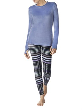 afed765bef3 Product Image Stretch luxe velour Warm Underwear Top and Legging
