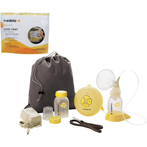 Medela - Swing Breastpump w/Quick Clean MicroSteam Bags Bundle