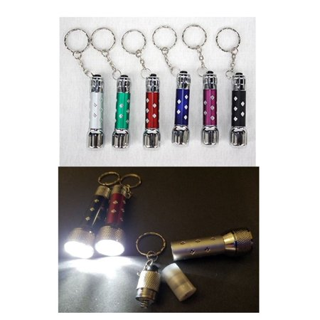 LWS LA Wholesale Store  10 Portable LED Mini Flashlights Light Up Torch Keychain Key Ring Key Chain