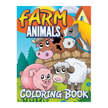Farm Animals Coloring Book : Coloring Book for Kids - Halloween Hard Coloring Pages