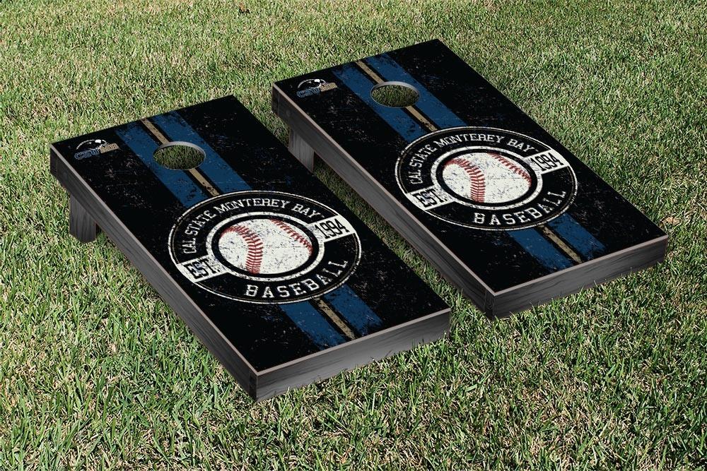 California State Monterey Bay Otters Regulation Cornhole Game Set Baseball Version by Victory Tailgate