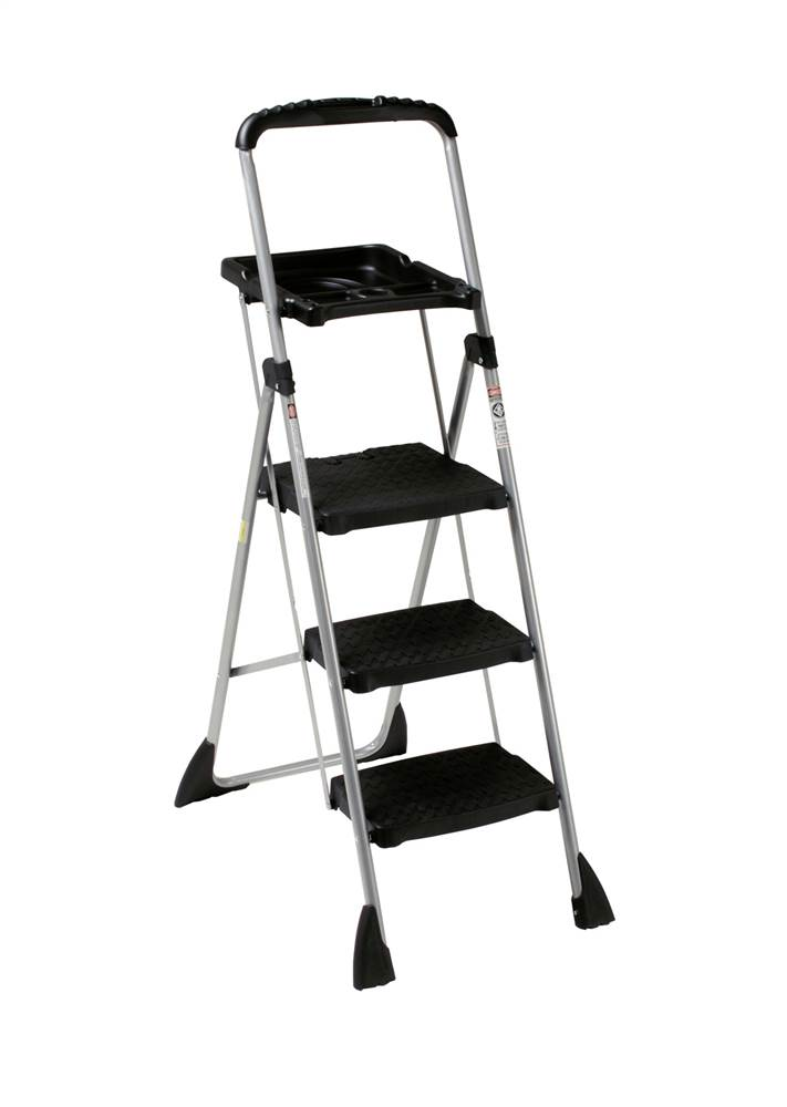Cosco Worlds Greatest 3 Step Folding Step Stool Black