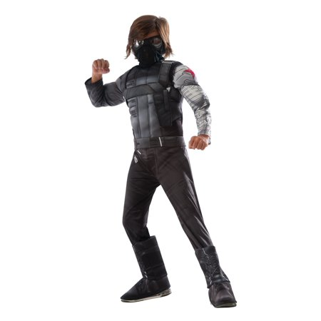 Captain America: Civil War Deluxe M/C Kids Winter Soldier Costume - Captain America Winter Soldier Costume For Sale