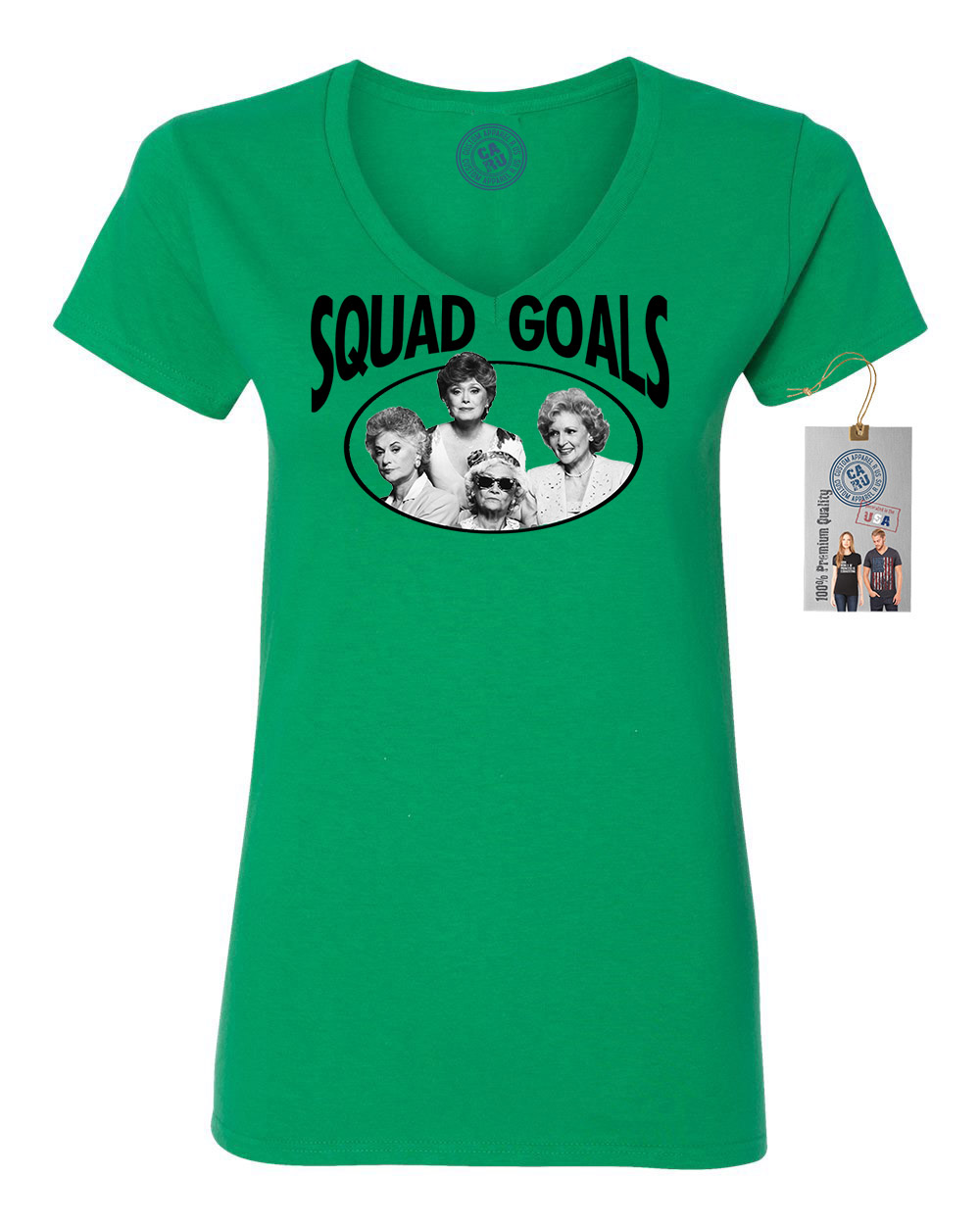 Golden Girls TV Show Squad Goals Womens VNeck Shirt Top