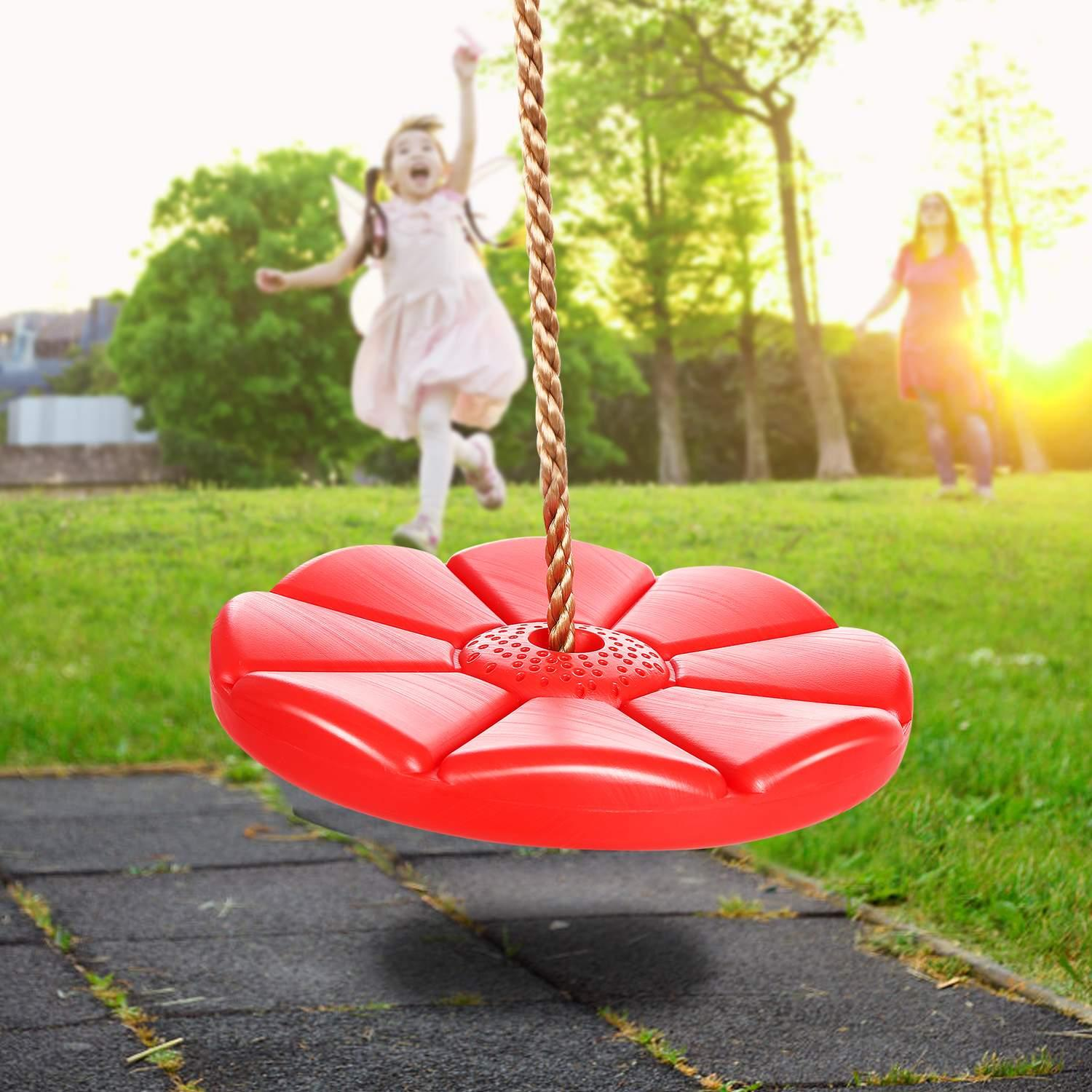 Clearance! Disc Swing Seat Kids Adult Toy Outdoor Round Swing Playground Play Set with Chain  cbst