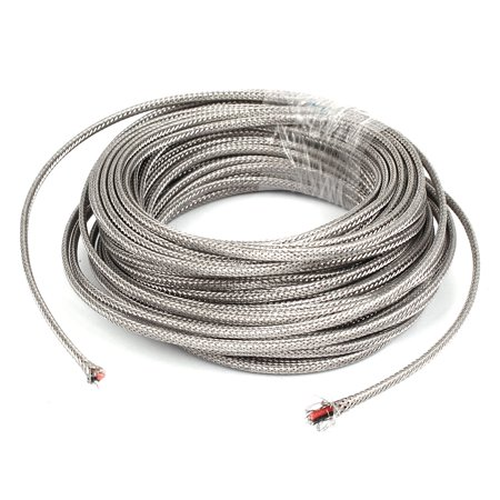 High Temperature Thermocouple Wire (59Ft Silver Tone Metal K Type Thermocouple Extension Wire )