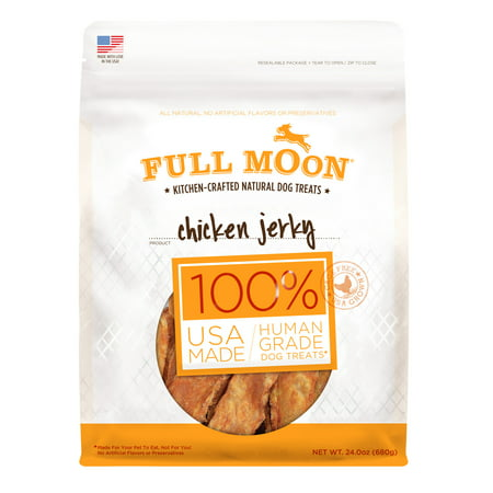 Full Moon All Natural Human Grade Dog Treats, Chicken Jerky, 24 Ounce](Halloween Moon Pie Treats)