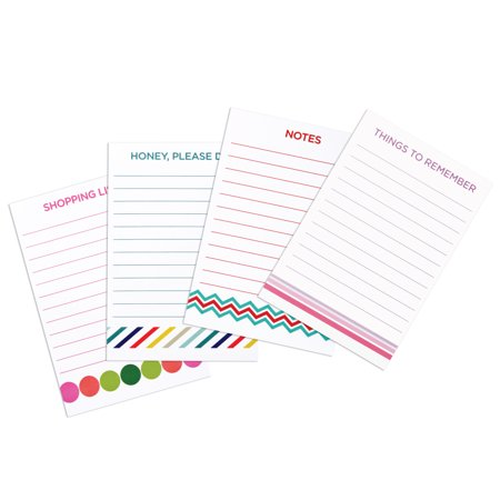 (4 Pack) Pen+Gear Self Stick Notes, 4 in. x 5.8 in., 1 Pad, Assorted - Cheap Notepads
