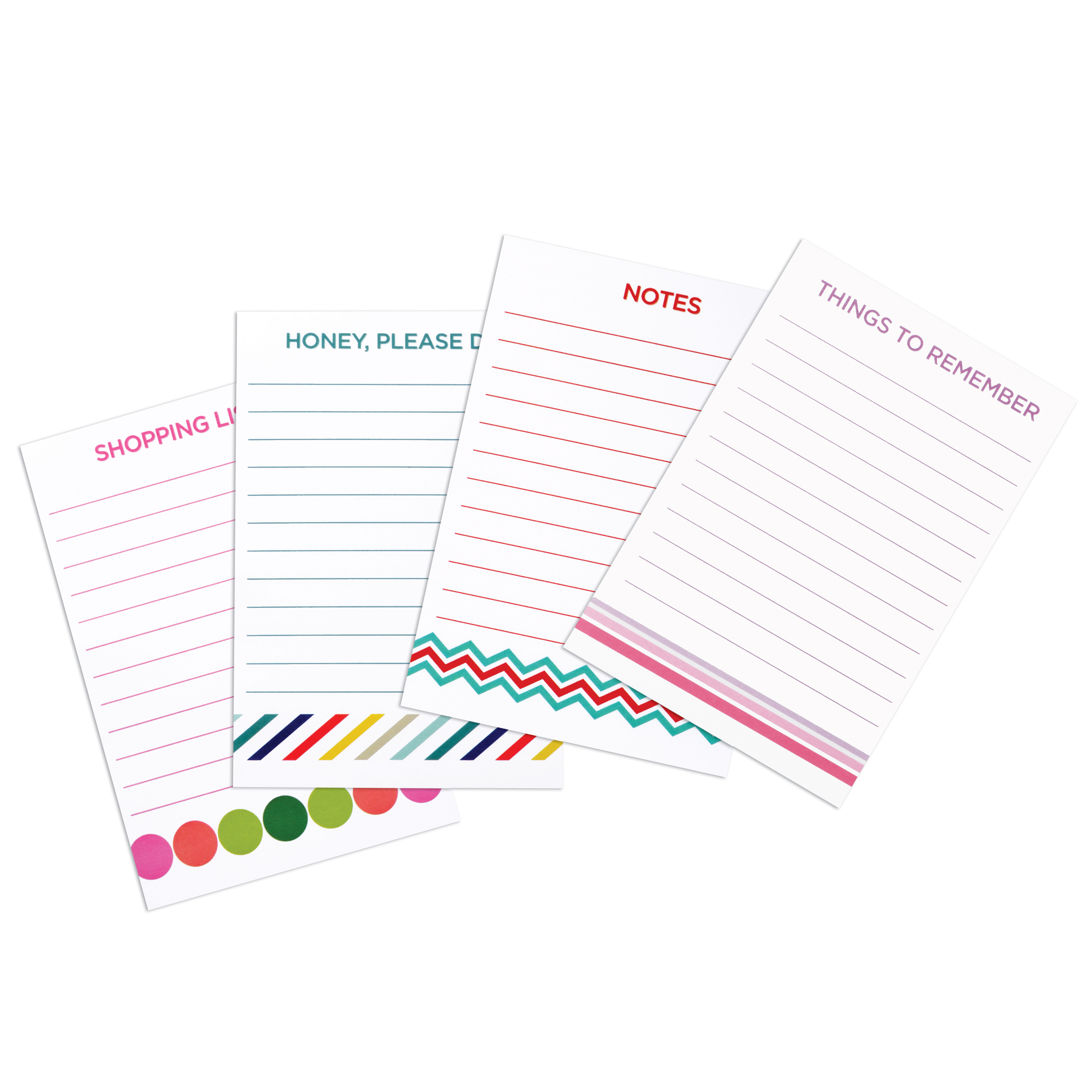 (4 Pack) Pen+Gear Self Stick Notes, 4 in. x 5.8 in., 1 Pad, Assorted Designs