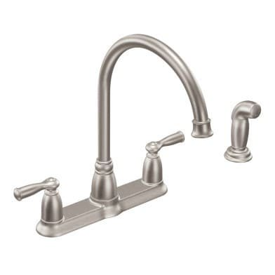 Moen CA87000 High-Arc Kitchen Faucet with Side Spray from the Banbury