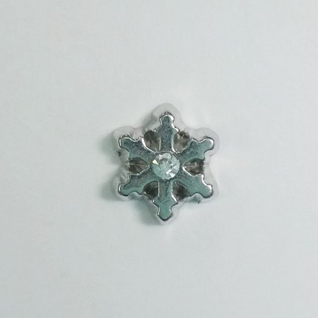 1 PC - Small Winter Snowflake Silver Charm for Floating Locket Jewelry F0027