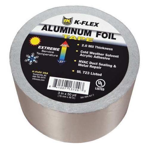 "K-FLEX USA 4"" x 150 Ft. Aluminum Pipe Insulation Tape, 800TAPEALF4"