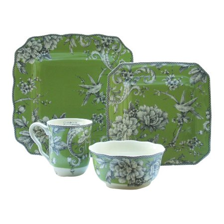 222 fifth adelaide 16 piece dinnerware set in green for 222 fifth dinnerware