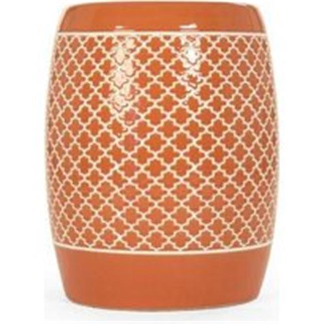 Zentique JW160248 Orange 14.25 x 18 x 14.25 in. Gable Garden Stool, Orange