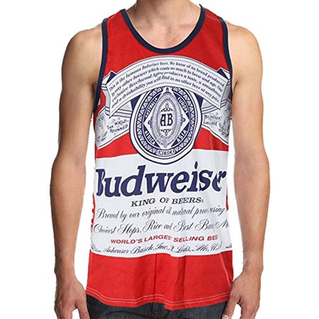 b58d29a1149d8 Calhoun - Budweiser Men s Retro Label Tank Top (Large)