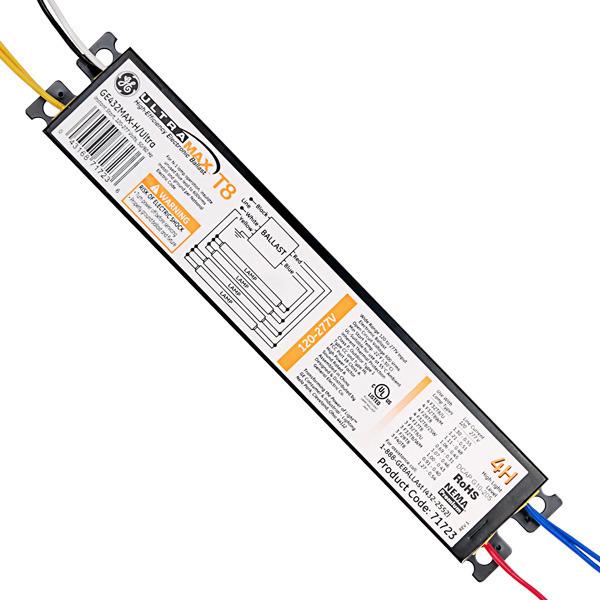 ge ultramax h 71723 -  4  lamp - f32t8  277 volt