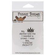 Riley & Company Funny Bones Cling Mounted Stamp 2''X1. 25''-My Dentist Told Me