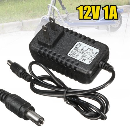 12V 1A AC Adapter Battery Charger Power Supply Universal For Kid Electronic SUV Ride On Car Round tip US (Power Universal Battery Charger)