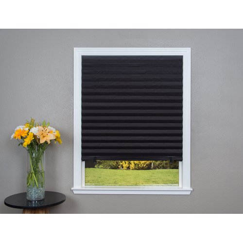 Ebern Designs Paper Black Pleated Shade Set Of 4