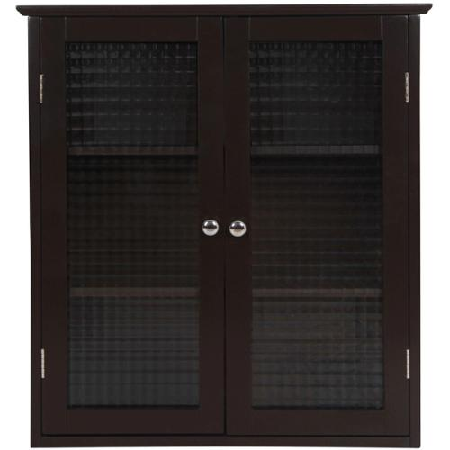 Essential Home Furnishings Windham Wall Cabinet with Two Glass ...
