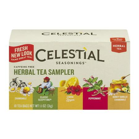 (3 Pack) Celestial Seasonings Herbal Tea, Herbal Tea Sampler, 18