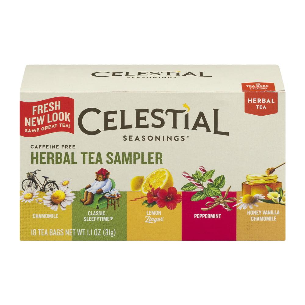 (2 Pack) Celestial Seasonings Herbal Tea, Herbal Tea Sampler, 18 Count