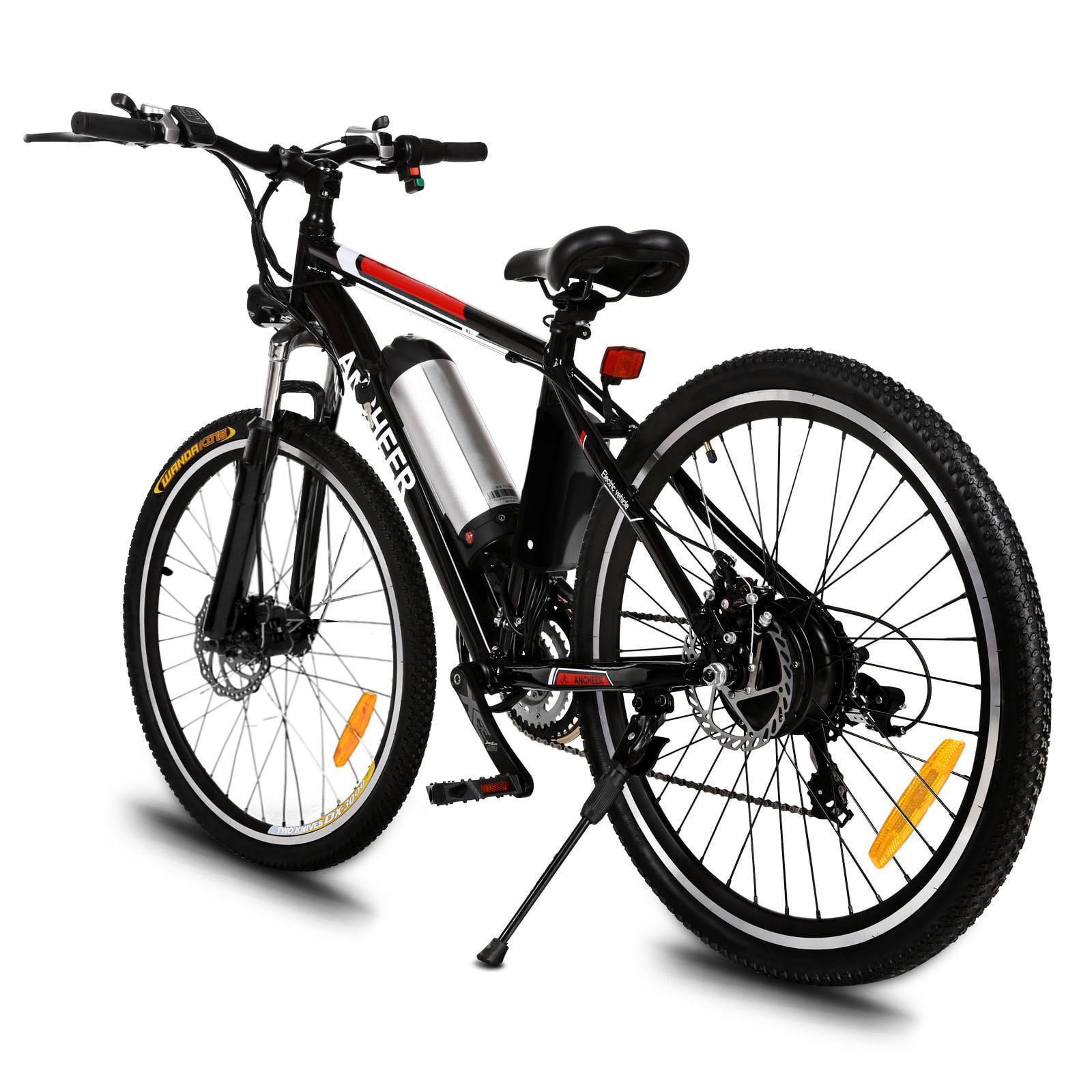 "25"" Electric Bike Men 21 Speed 250W Power Plus Mountain Bike Cycling Bicycle Aluminum Alloy Frame Bike AMZSE"