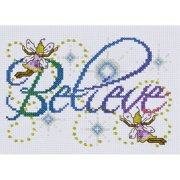 Tobin Design Works Counted Cross-Stitch Kit, Believe