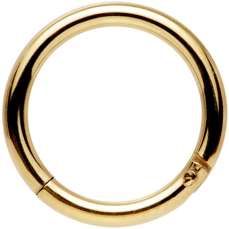 Body Candy Anodized Stainless Steel Hinged Segment Ring Circular Barbell 14 Gauge 3/8