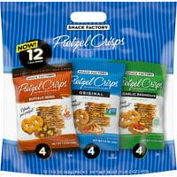 Snack Factory Pretzel Crisps Variety Pack, Individual 1.5 Oz Snack Packs, 12 Ct
