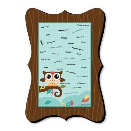 Owl 1st Birthday Party Supplies (Owl - Look Whooo's Having A Party - Unique Alternative Guest Book - Baby Shower or Birthday Party Signature)