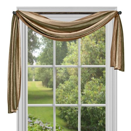 Ombre h Scarf, 50-Inch by 144-Inch, Earth, Panel, Tie Up and Valance sold separately By Achim Home Furnishings (Earthing Rod)