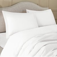 Ultra Soft 3 Piece Duvet Cover Set with Button Closure and 2 Pillow Shams, Available in King Queen Full Twin and Cal King, Double Brushed Microfiber, Hypoallergenic, Cool & Breathable, Queen - White