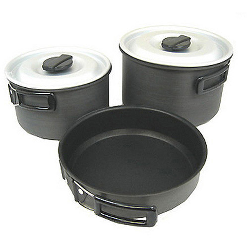 Chinook Non-Stick Ridge Hard Anodized Cookset, Large