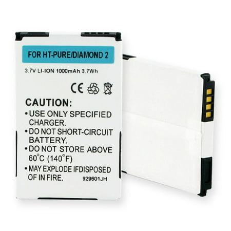 HTC PURE Cell Phone Battery (Li-Ion, 3.7V, 1000mAh) Rechargeable Battery - Replacement for HTC BAS360 Battery ()