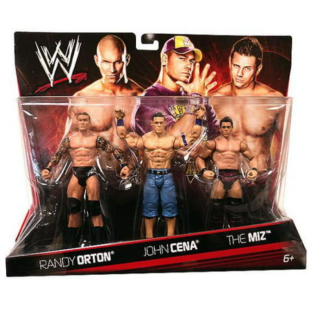 WWE Wrestling Randy Orton, John Cena & The Miz Action Figure 3-Pack