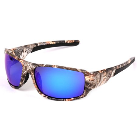 Outdoor Sport Sunglasses with Camouflage Frame Polaroid Glasses for Fishing Hunting Boating Lenses (Boating Sunglasses)