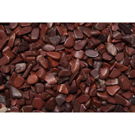 Fantasia Crystal Vault: 1/2 lb High Grade Red Striped Dolomite Tumbled Stones - XSmall - 0.5